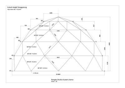 kubah masjid, kontraktor, enamel, atap, desain, harga, bahan