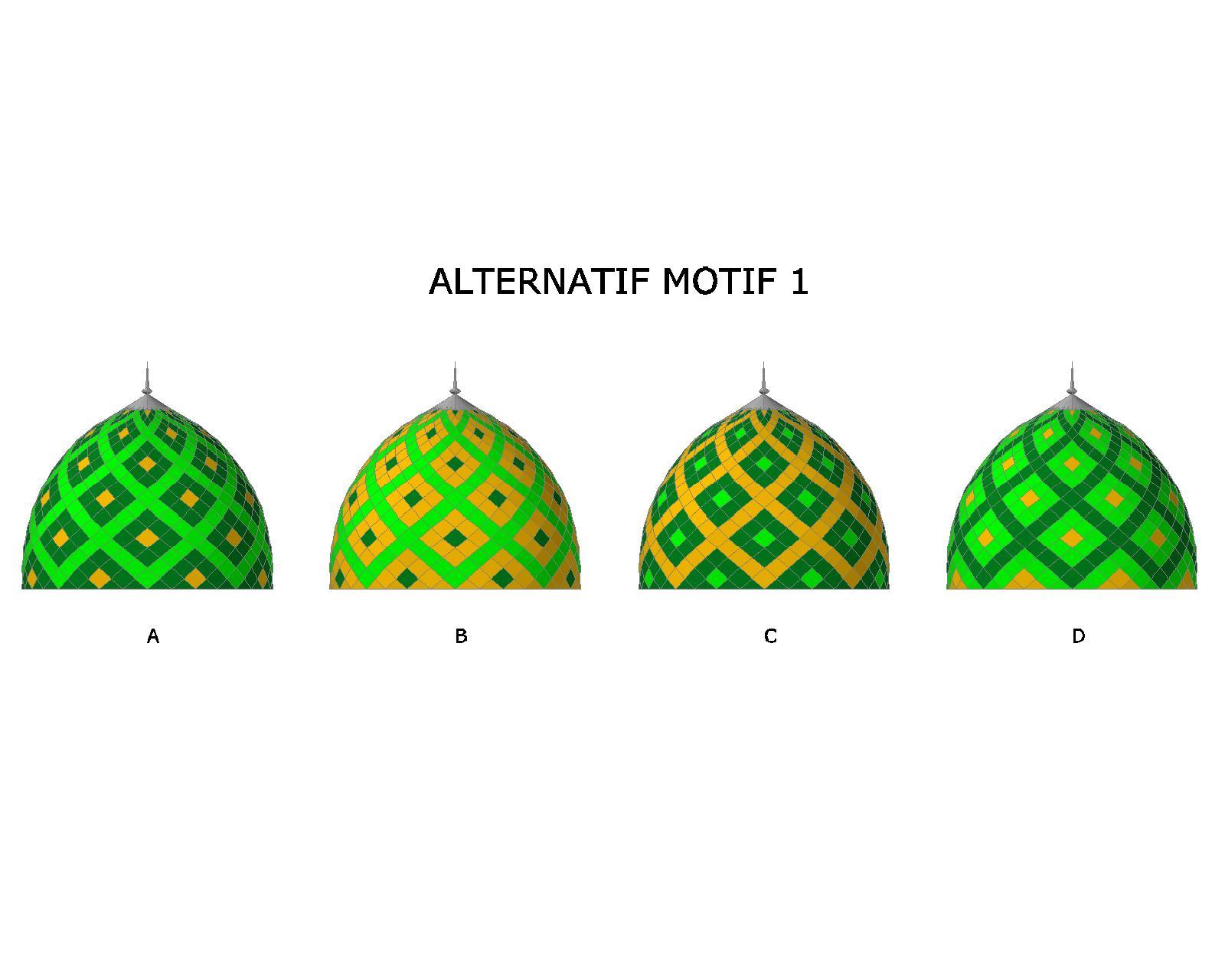 Motif Kubah Kontraktor Atap Kubah Enamel Masjid