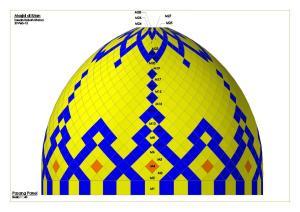 Gambar,desain,warna,motif,panel,kubah,masjid,atap
